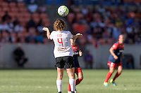 Houston, TX - Sunday Oct. 09, 2016: Elizabeth Eddy during the National Women's Soccer League (NWSL) Championship match between the Washington Spirit and the Western New York Flash at BBVA Compass Stadium. The Western New York Flash win 3-2 on penalty kicks after playing to a 2-2 tie.