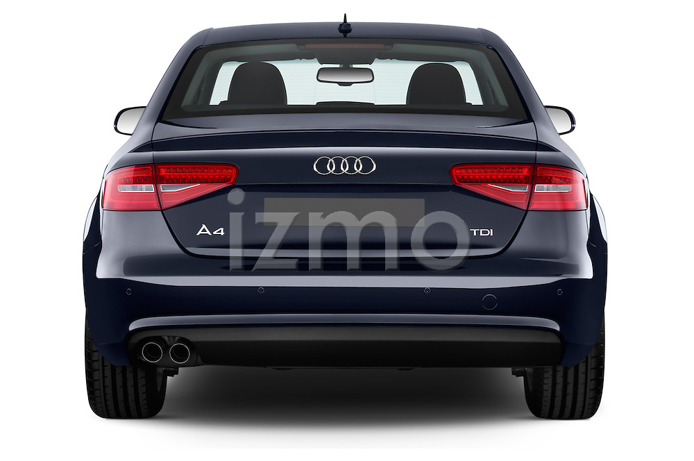 Straight rear view of a 2014 Audi A4 AMBITION LUXE 4 Door Sedan 2WD