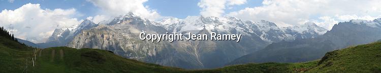 Swiss Alps Panoramic, Murren, Switzerland