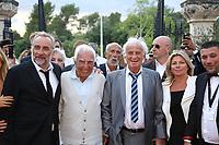 ANTOINE DULERY , CHARLES GERARD , JEAN PAUL BELMONDO - GARDEN PARTY AU CHATEAU DE LA BUZINE A MARSEILLE - FRANCE , LE 30/06/2017