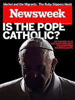 Newsweek United States magazine.Pope Francis. September 18, 2015.<br /> Photograph by Stefano Spaziani.