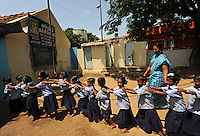 Children at the Valluvar Kalvi Nilayam Primary School in Salem, Tamil Nadu, India.