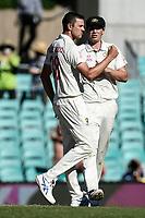 10th January 2021; Sydney Cricket Ground, Sydney, New South Wales, Australia; International Test Cricket, Third Test Day Four, Australia versus India; Josh Hazlewood of Australia celebrates the wicket of Shubman Gill of India