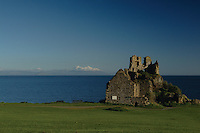 Dunure Castle and Arran from Dunure, Ayrshire<br /> <br /> Copyright www.scottishhorizons.co.uk/Keith Fergus 2011 All Rights Reserved