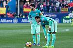 Leo Messi and Neymar Santos Jr during the match of Spanish La Liga between Atletico de Madrid and Futbol Club Barcelona at Vicente Calderon Stadium in Madrid, Spain. February 26, 2017. (Rodrigo Jimenez / ALTERPHOTOS)