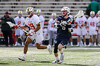 College Park, MD - February 15, 2020: Penn Quakers attack Jack Schultz (6) makes a pass during the game between Penn and Maryland at  Capital One Field at Maryland Stadium in College Park, MD.  (Photo by Elliott Brown/Media Images International)
