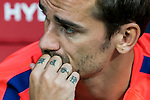 The 'HOPE' tattoo on Antoine Griezmann of Atletico de Madrid's fingers is seen during their International Champions Cup Europe 2018 match between Atletico de Madrid and FC Internazionale at Wanda Metropolitano on 11 August 2018, in Madrid, Spain. Photo by Diego Souto / Power Sport Images