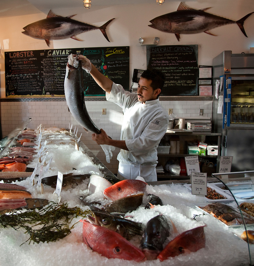 Black Salt Fish Market in Washington DC one of the area's best sources for retail seafood, with a wide variety of fresh seafood from around the world coming in daily.