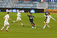 ST PAUL, MN - NOVEMBER 4: Marlon Hairston #94 of Minnesota United FC controls the ball during a game between Chicago Fire and Minnesota United FC at Allianz Field on November 4, 2020 in St Paul, Minnesota.