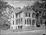 Frederick Stone negative. Strobel, Chris & Dr. Deacon House (where Leavenworth School stands), 1890.