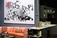 Orange corner sofa