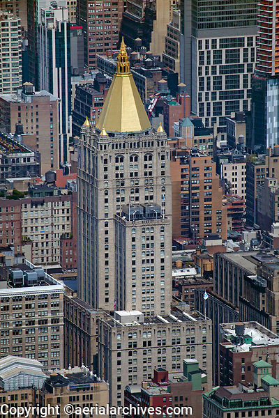 aerial photograph New York Life Building, Manhattan, New York City and adjacent high rise buildings