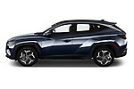 Car Driver side profile view of a 2022 Hyundai Tucson Limited 5 Door SUV Side View