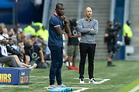KANSAS CITY, KS - JULY 11: Gregg Berhalter head coach of the United States during a game between Haiti and USMNT at Children's Mercy Park on July 11, 2021 in Kansas City, Kansas.