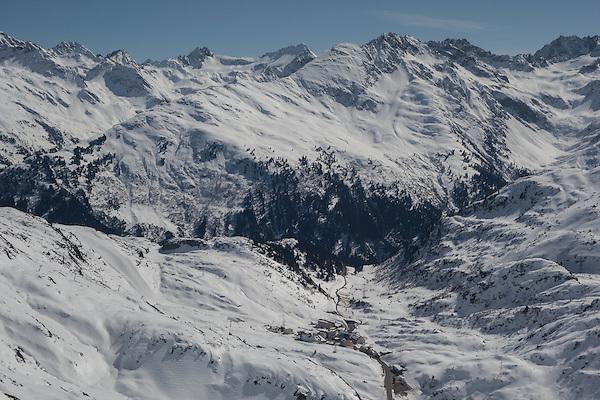 St Christoph seen from St Anton Ski Area, Austria,