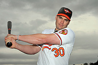 Feb 27, 2010; Tampa, FL, USA; Baltimore Orioles  outfielder Luke Scott (30) during  photoday at Ed Smith Stadium. Mandatory Credit: Tomasso De Rosa