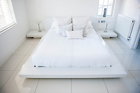 "COPY BY TOM BEDFORD<br /> Pictured: One of the bedrooms<br /> Re: A home-loving mum is looking forward to a bright 2017 - everything she owns is white.  <br /> Claire Dix, 51, lives in white house where all the inside walls, floors and ceilings are white.<br /> Her furniture is white, her sheets and towels are white - even her Persian cat Mr Darcy is white.<br /> She drives a white Porsche sports car and the other family car is - you've guessed, it white.<br /> And to keep her home spotless she even has a white, limited-edition Dyson cleaner.<br /> Claire said: ""It's not an obsession, just a matter of style - I happen to like white."