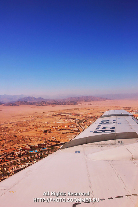 Sinai Peninsula (Sharm el-Sheikh) from the plane