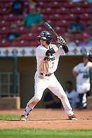 Cedar Rapids Kernels center fielder Casey Scoggins (7) at bat during a game against the Dayton Dragons on July 24, 2016 at Perfect Game Field in Cedar Rapids, Iowa.  Cedar Rapids defeated Dayton 10-6.  (Mike Janes/Four Seam Images)