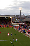 Barnsley 1 Millwall 0, 22/02/2014. Oakwell, Championship. Millwall make the journey from south London to South Yorkshire for a Championship relegation battle with Barnsley. View of the West Stand and Pontefract Road end. Photo by Simon Gill.