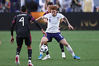 6th June 2021. Denver, Colorado, USA;  United States forward Josh Sargent (9) shields the ball  during the CONCACAF Nations League finals between Mexico and the United States  at Empower Field at Mile High in Denver, CO.