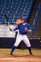 TJ Collett (34) of Terre Haute North Vigo High School in Terre Haute, Indiana playing for the Chicago Cubs scout team during the East Coast Pro Showcase on July 27, 2015 at George M. Steinbrenner Field in Tampa, Florida.  (Mike Janes/Four Seam Images)