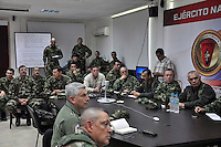 QUIBDO-CHOCO -COLOMBIA. 18-NOVIEMBRE-2014. Desde la noche del pasado domingo se reforzaron los dispositivos de seguridad en el Chocó con la llegada de tropas desde diferentes lugares del país. El ministro Juan Carlos Pinzon dirige personalmente las operaciones que se despliegan desde la sede de la Brigada 15 , en Quibdo. Las Fuerzas Militares siguen en operaciones en el Choco para rescatar a las personas secuestradas.   From Sunday night safety devices in Choco with the arrival of troops from different parts of the country were strengthened. Minister Juan Carlos Pinzon personally directs the operations that deploy from the headquarters of the 15th Brigade in Quibdo. The security forces continue operations in the Chocó to rescue the abductees.Photo: VizzorImage / Mauricio Orjuela / Ministerio de Defensa Nacional