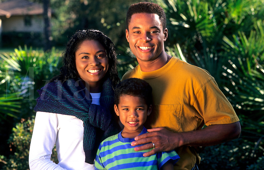 Black african american family.