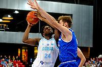 GRONINGEN - FIBA Basketbal-bubbel. Donar - Allianz Swans Gmunden seizoen 2021-2022, 29-09-2021,  Donar speler Lotanna Nwogbo