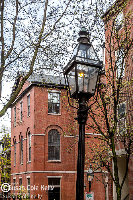 The Phillips School on the Black Heritage Trail on Beacon Hill, Boston African American National Historic Site, Boston, Massachusetts, USA