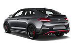 Car pictures of rear three quarter view of 2021 Hyundai i30-Fastback-N - 5 Door Hatchback Angular Rear
