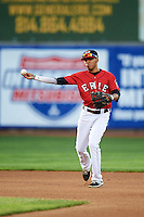 Erie SeaWolves shortstop Harold Castro (1) during a game against the Richmond Flying Squirrels on May 27, 2016 at Jerry Uht Park in Erie, Pennsylvania.  Richmond defeated Erie 7-6.  (Mike Janes/Four Seam Images)