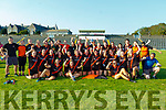 The  St Senans team celebrate winning the Intermediate r final against Castleisland Desmonds in Fitzgerald Stadium on Sunday