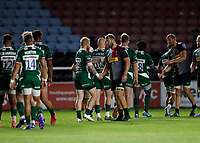9th September 2020; Twickenham Stoop, London, England; Gallagher Premiership Rugby, London Irish versus Harlequins; Chris Robshaw of Harlequins shakes hands with Tom Homer of London Irish after full time