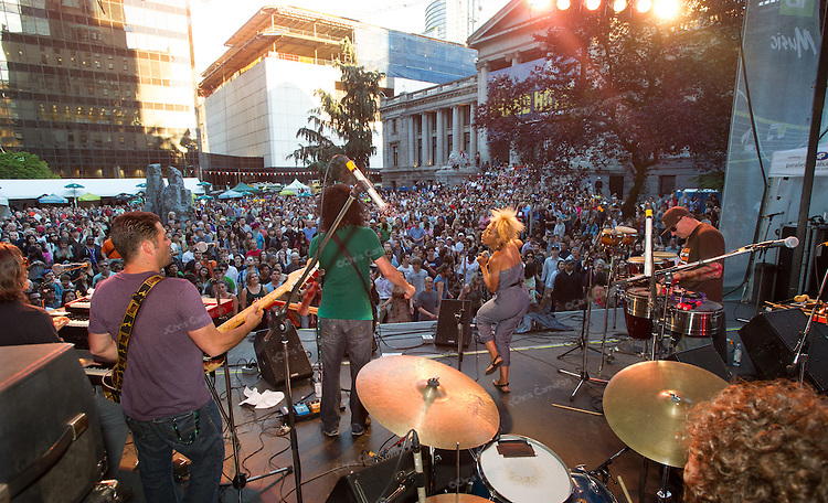 Orgone plays the Georgia Stage, June 22, 2013 in the Vancouver International Jazz Festival