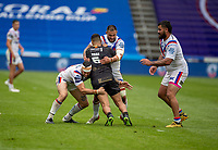 22nd August 2020; The John Smiths Stadium, Huddersfield, Yorkshire, England; Rugby League Coral Challenge Cup, Catalan Dragons versus Wakefield Trinity; Fouad Yaha of Catalan Dragons is tackled by Wakefield Trinity