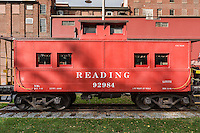 Historic reading Railroad train car, Lititz, Pennsylvania, USA
