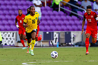 July 16th 2021; Orlando, Florida, USA; Jamaica midfielder Daniel Johnson during the Concacaf Gold Cup match between Guadeloupe and Jamaica on July 16, 2021 at Exploria Stadium in Orlando, Fl.