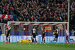 Atletico de Madrid´s Mario Suarez scores a goal during the UEFA Champions League round of 16 second leg match between Atletico de Madrid and Bayer 04 Leverkusen at Vicente Calderon stadium in Madrid, Spain. March 17, 2015. (ALTERPHOTOS/Victor Blanco)
