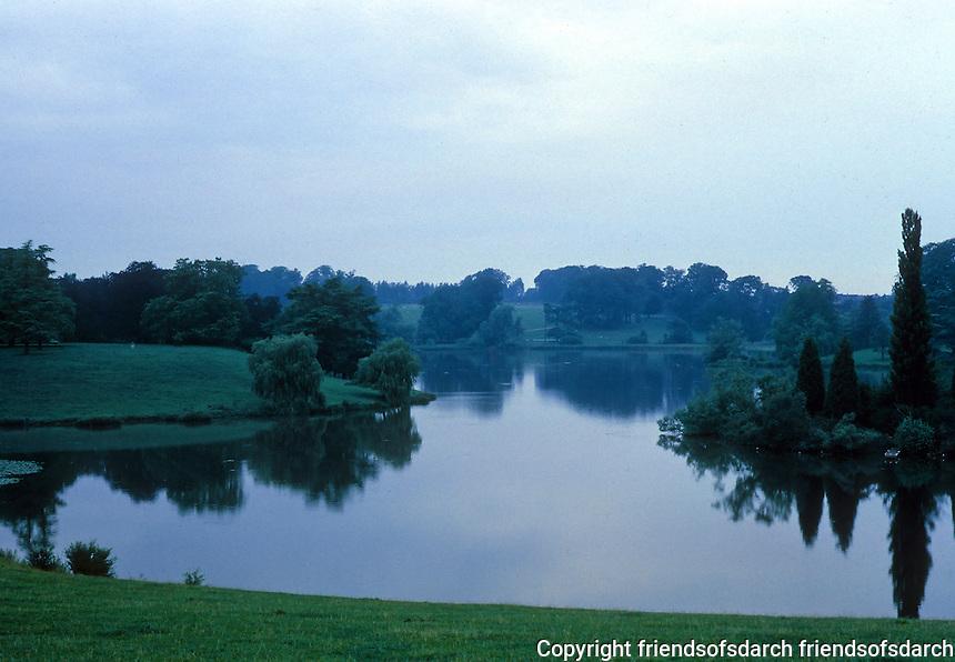 "Blenheim Palace: Blenheim Lake. Landscaping by Lancelot  ""Capability"" Brown. Photo '87."