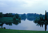 "Blenheim Palace: Blenheim Lake. Landscaping by Lancelot  ""Capability"" Brown. Photo '87."