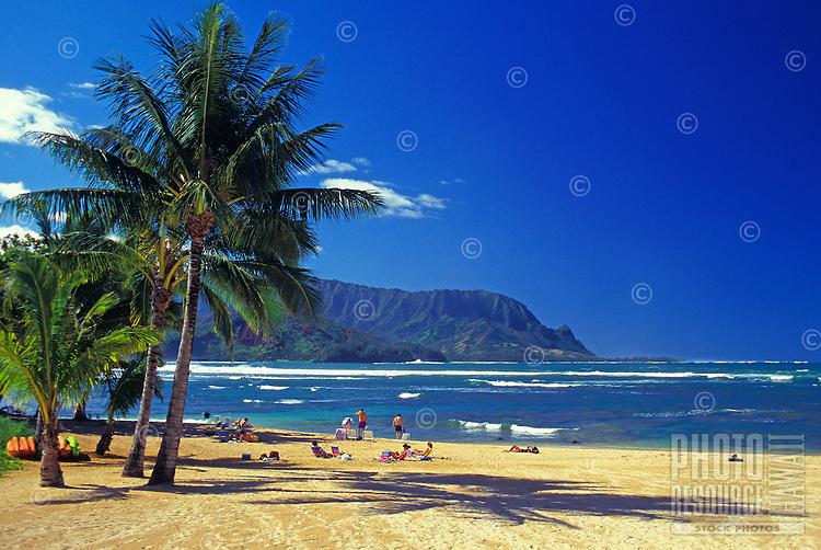 Hanalei Bay, North shore Kauai, Makana Point