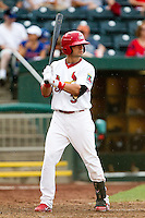 Jose Garcia (3) of the Springfield Cardinals at bat during a game against the Northwest Arkansas Naturals at Hammons Field on July 31, 2011 in Springfield, Missouri. Northwest Arkansas defeated Springfield 9-1. (David Welker / Four Seam Images)