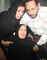 "Palestinian relative of  Hesham al-Jamal, an Islamic Jihad militant who was killed by an Israeli air strike, during his funeral in the southern Gaza Strip August 5, 2007. An Israeli air strike on two vehicles killed two Palestinian militants in the southern Gaza Strip on Saturday, ambulance crews and local residents said.""photo by Fady Adwan"""