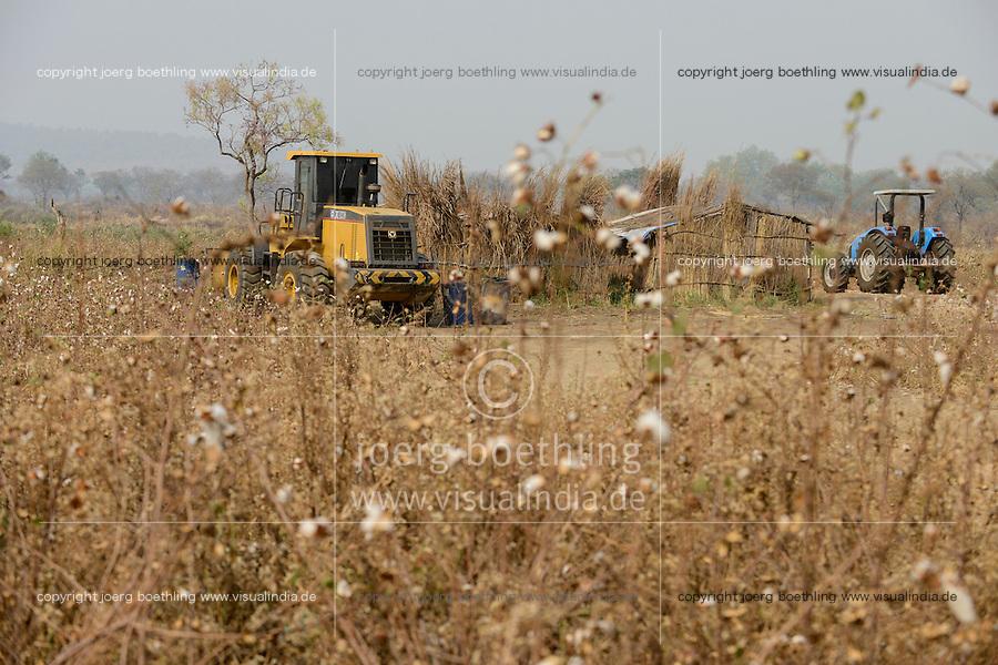 ETHIOPIA Gambela, Pukong, ethiopian government is leasing large farm land to investors for farming of cotton and maize / AETHIOPIEN Gambella, die aethiopische Regierung verpachtet grosse Landflaechen an Investoren