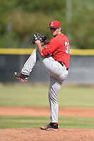 Los Angeles Angels of Anaheim pitcher Jake Jewell (31) during an Instructional League game against the Milwaukee Brewers on October 9, 2014 at Tempe Diablo Stadium Complex in Tempe, Arizona.  (Mike Janes/Four Seam Images)