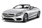2017 Mercedes Benz S-Class AMG-Line 2 Door Convertible Angular Front stock photos of front three quarter view