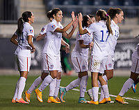 Chester, PA - October 24, 2014: The USWNT defeated Mexico 3-0 during the semifinals of the CONCACAF Women's Championship at PPL Park.