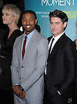 Mackenzie Davis , Michael B. Jordan and Zac Efron  attends That Awkward Moment Premiere held at The Premiere House at Regal Cinemas L.A. Live in Los Angeles, California on January 27,2014                                                                               © 2014 Hollywood Press Agency
