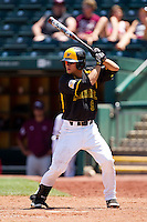 Josh Halbert (9) of the Wichita State Shockers at bat during a game against the Missouri State Bears in the 2012 Missouri Valley Conference Championship Tournament at Hammons Field on May 23, 2012 in Springfield, Missouri. (David Welker/Four Seam Images)